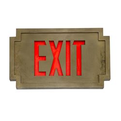 Tower of Terror Exit Sign.