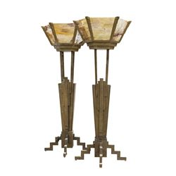 "Pair of ""Tower of Terror"" Large Lobby Floor Lamp Props."
