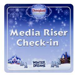World of Color Winter Dreams Media Sign.
