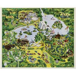 Walt Disney World Illustrated Map.