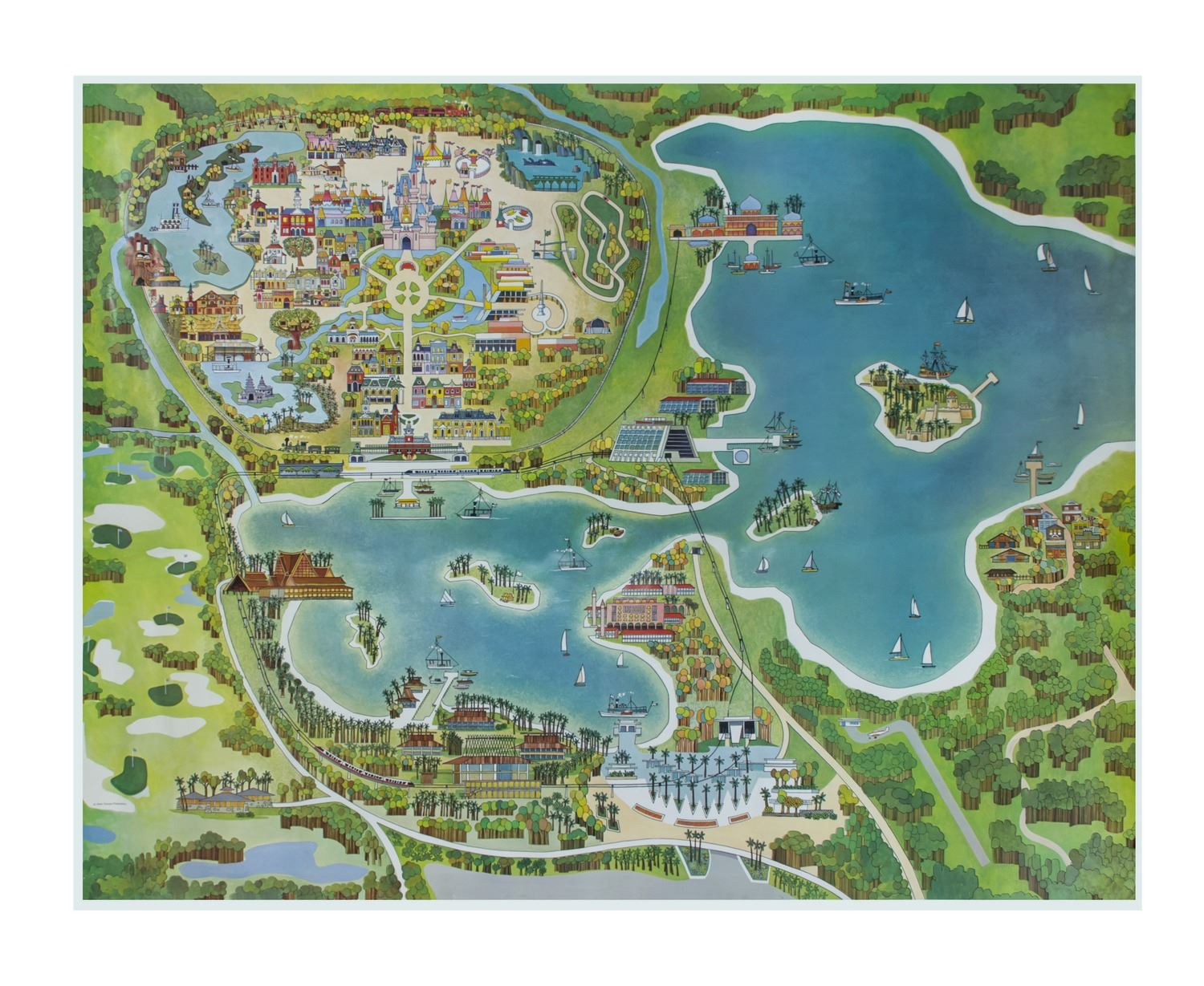 Walt Disney World Oversize Map. on