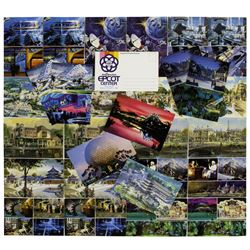 Collection of (30) EPCOT Pre-Opening Postcards.