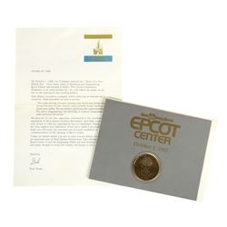EPCOT Center Grand Opening Coin.