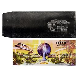 EPCOT Grand Opening Ticket and Envelope.