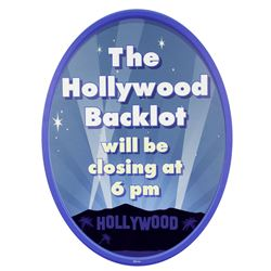 Hollywood Backlot Sign.