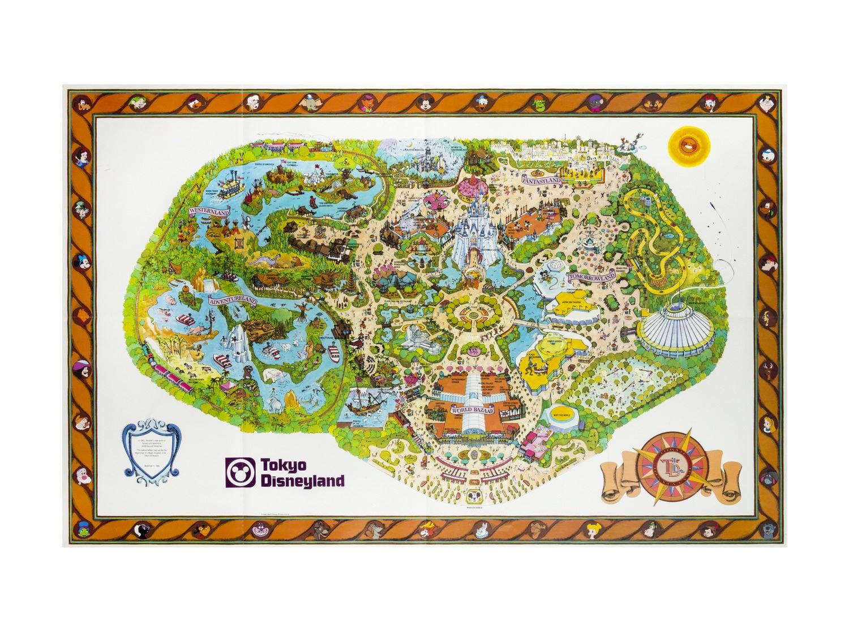 Tokyo Disneyland Pre Opening Map