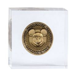 "Tokyo Disneyland ""Ground Purification Ceremony"" Coin."
