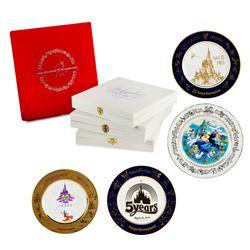 Set of (4) Tokyo Disneyland Anniversary Plates.