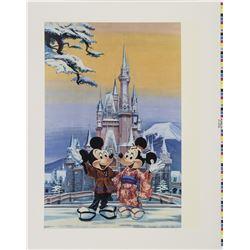 Tokyo Disneyland Charles Boyer Cast Member Lithograph.