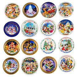 Set of (16) Tokyo Disneyland Christmas Plates.