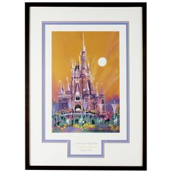 Tokyo Disneyland 10th Anniversary Lithograph.