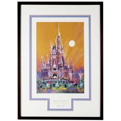 Tokyo Disneyland 10th Anniversary Lithograph.