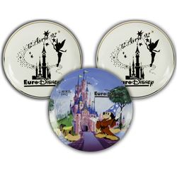 Set of (3) Euro Disney Grand Opening Plates.