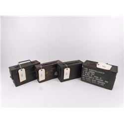 4 Assorted Steel Ammo Cans