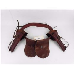 Brown Leather Belt and Holsters