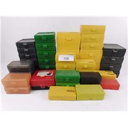 Box Full of Assorted Plastic Ammo Boxes