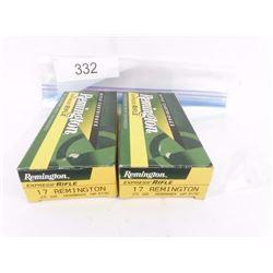 2 Boxes 17 Remington