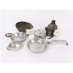 Military Issue Canteen and Mess Kit