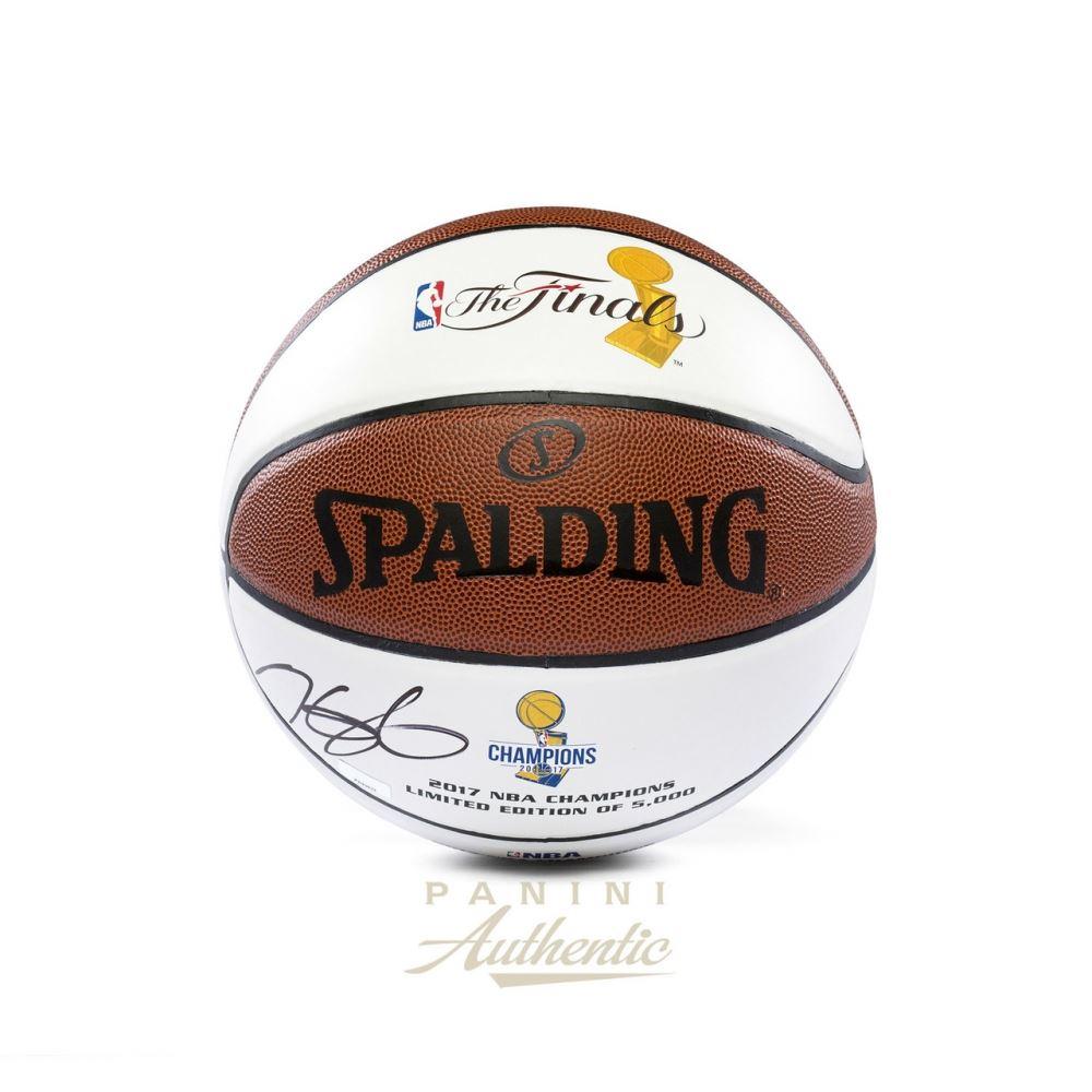 eff30284c7e Image 1   Kevin Durant Signed Warriors 2017 NBA Finals Champions Logo  Basketball (Panini COA