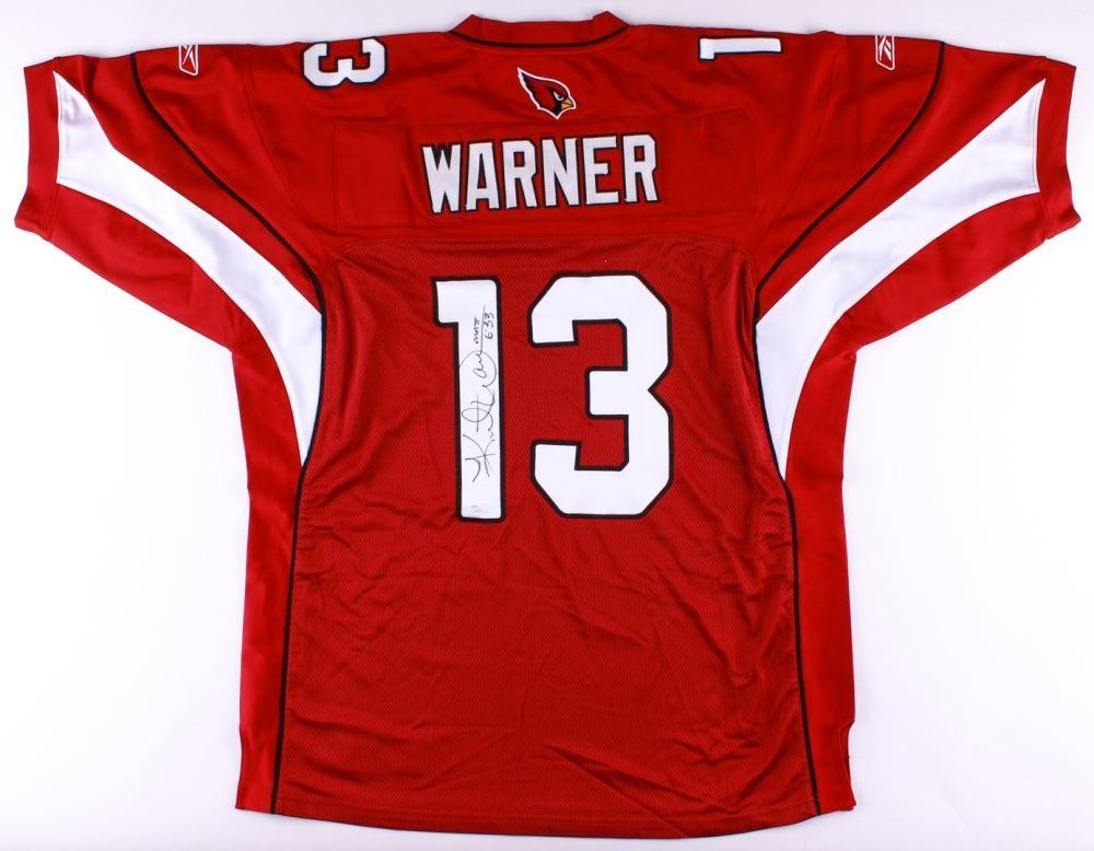 premium selection 34b42 256a8 Kurt Warner Signed Authentic On-Field Cardinals Jersey (JSA ...
