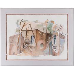 M. Webb, watercolor