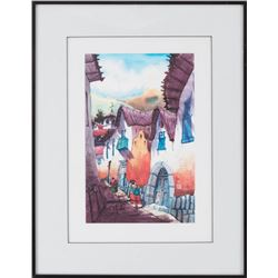 Nini Simon-Laylock, two watercolors