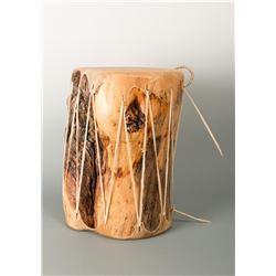 Rawhide & Burl Wood Drum