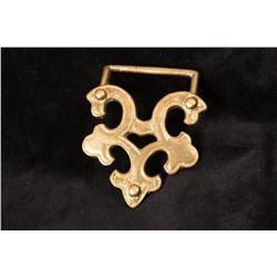 Brass Fleur-de Lis Design Belt Buckle