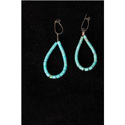 Pair of Heishe Wire Earrings