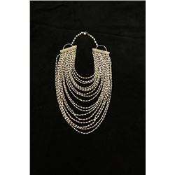Faux Pearl and Gold-tone Necklace