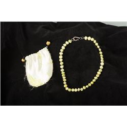 Freshwater Green Pearl Necklace