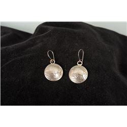 Pair of Buffalo Nickel Earrings