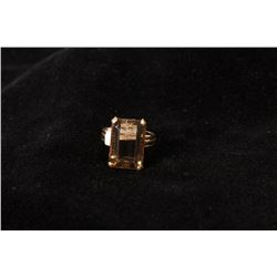 Topaz and Gold Ring