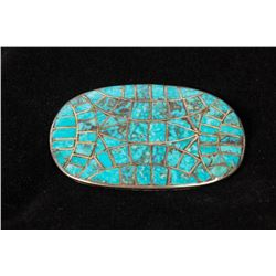Oval Turquoise Pin
