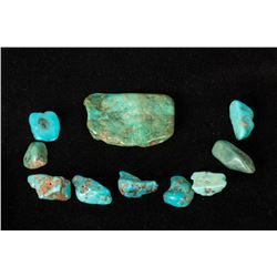 Ten Loose Turquoise Nuggets/Stones