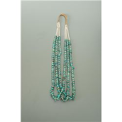Three Strand Turquoise Nugget and Heishi Necklace