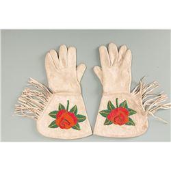 Shoshone Beaded Woman's Gauntlets