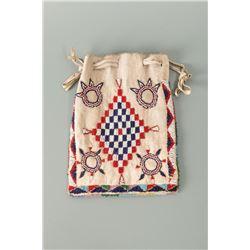 Northern Plains Beaded Drawstring Bag