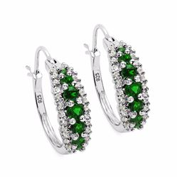Sterling Silver Chrome-Diopside Earrings