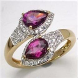 Sterling Silver Purple Garnet Ring