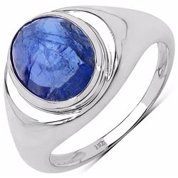 Sterling Silver Rose Cut Tanzanite Ring
