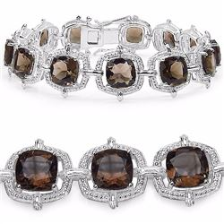 Sterling Silver Smoky Quartz Bracelet