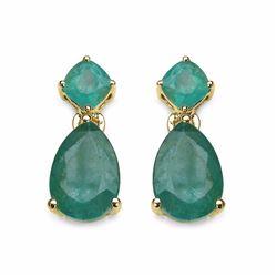 Sterling Silver Zambian Emerald Earrings