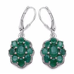 Sterling Silver Sakota Emerald Earrings
