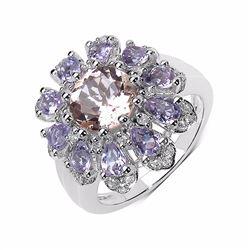 Sterling Silver Morganite Ring