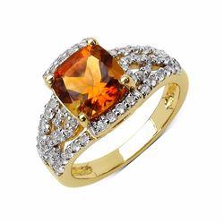 Sterling Silver Madeira Citrine Ring