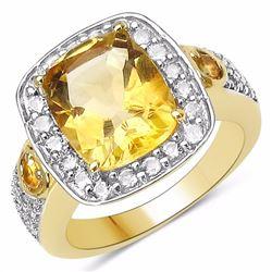 Sterling Silver Golden Citrine Ring