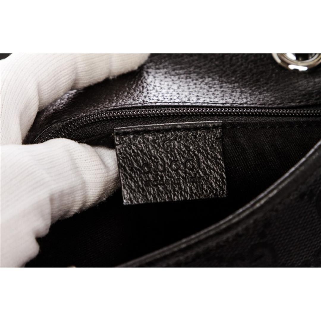 fee1b105788 ... Image 6   Gucci Black Monogram Canvas Leather Trim Tote Handbag ...