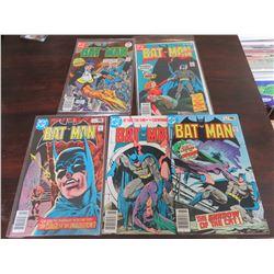 Batman #287, 301, 320, 323, 324