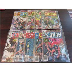 Conan the Barbarian #70 through #79 inclusive